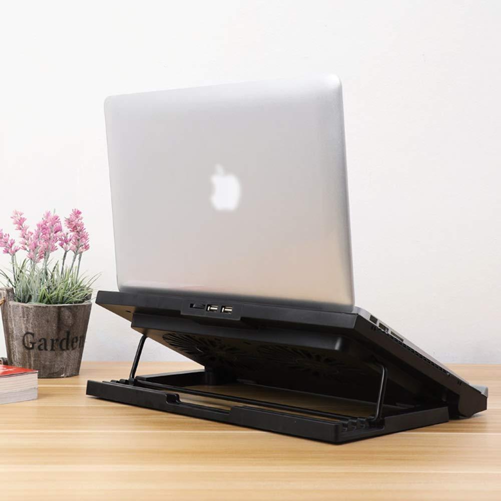 PANGU-ZC Laptop Cooler - Foldable Portable Dual USB Powered Dual Fan Design, Height Adjustable for 15.6'' by PANGU-ZC (Image #2)