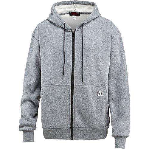 (Wolverine FireZerO Fleece Zip Front Hoody Men XL Ash )