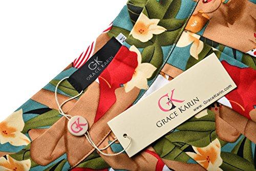 Retro Swing Skirt for Women Pin Up Skirt Size L CL6294-7