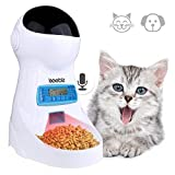 Automatic Cat Feeder 3L Pet Food Dispenser Feeder For Medium And Large Cat Dog——4 Meal, Voice Recorder And Timer Programmable,Portion Control