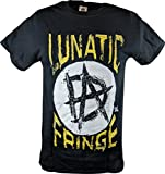Dean Ambrose Lunatic Fringe WWE Mens Black T-Shirt-XL