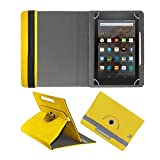 Fastway Rotating 360° Leather Flip Case For Kindle All New Fire Hd 8 Yellow