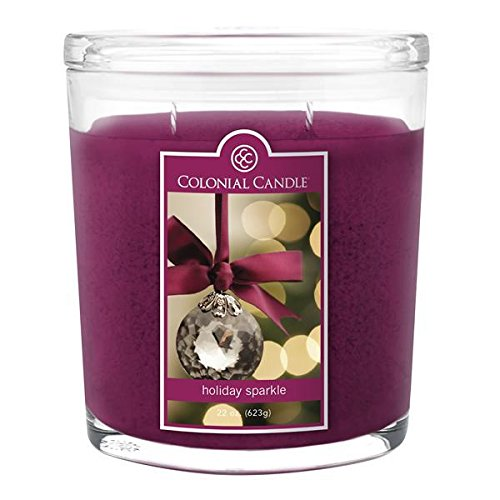Colonial Candle - Holiday Sparkle 22 oz Oval Jar-2 per case (22 Holiday Ounce Jar)