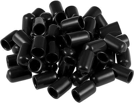 5pcs Rubber End Caps 1-1//8 inch ID Round Cap Cap Flexible Thread Caps Protectors Red