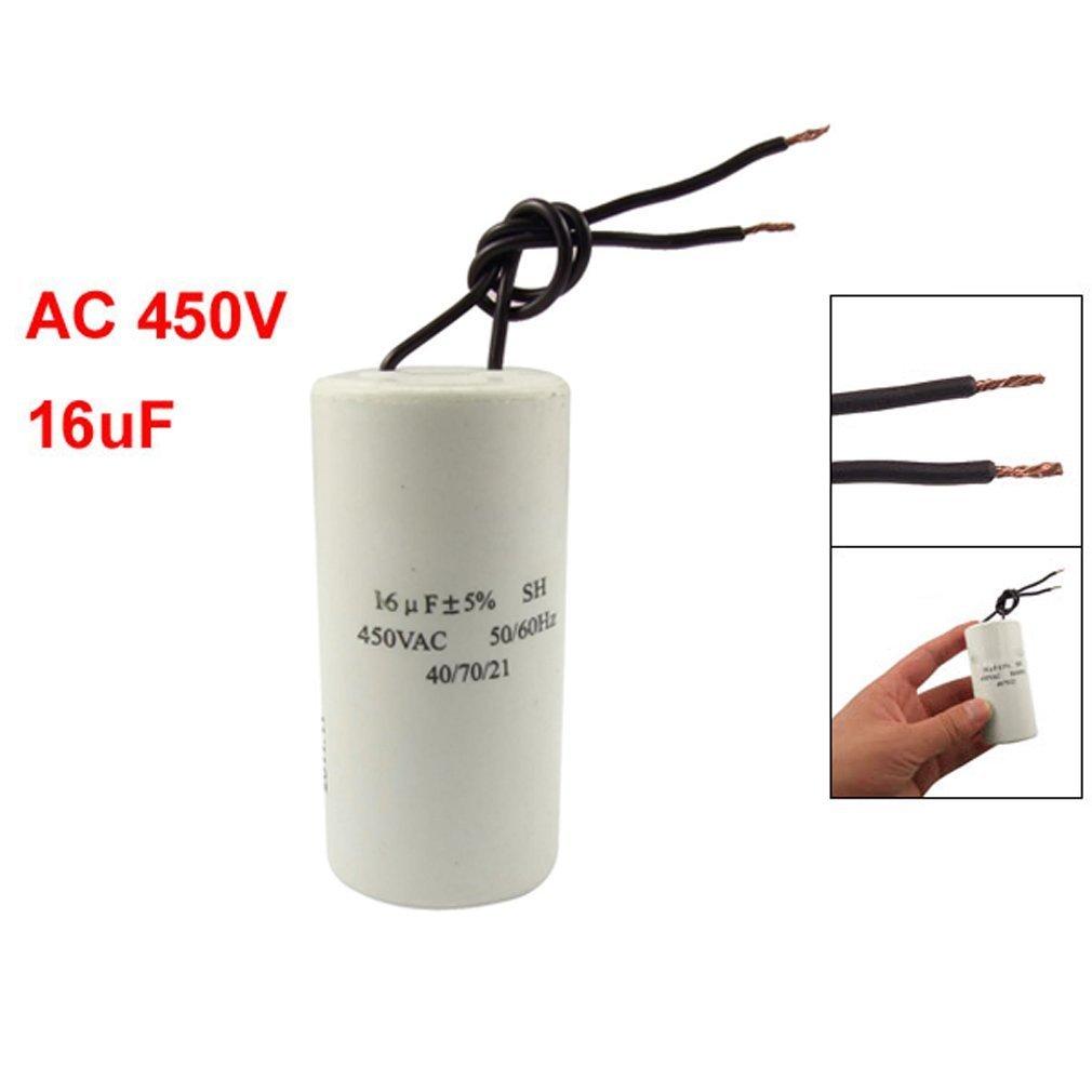 TOOGOO(R) CBB60 AC 450V 16uF Condensador SH de arranque de funcionamiento del motor alambrado 50/60Hz 010696