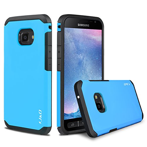 J&D Case Compatible for Galaxy Xcover 4 Case, Heavy Duty [Dual Layer] Hybrid Shock Proof Protective Rugged Bumper Case for Samsung Galaxy Xcover 4 Case - Blue