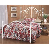 Hillsdale Furniture 381HFQR Cherie Headboard with Rails, Full/Queen, Ivory