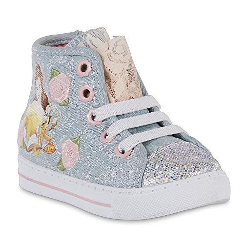 Disney Princess Belle Beauty and the Beast High Top Glitter Shoes (12 M US Little (Belle Shoes Disney)