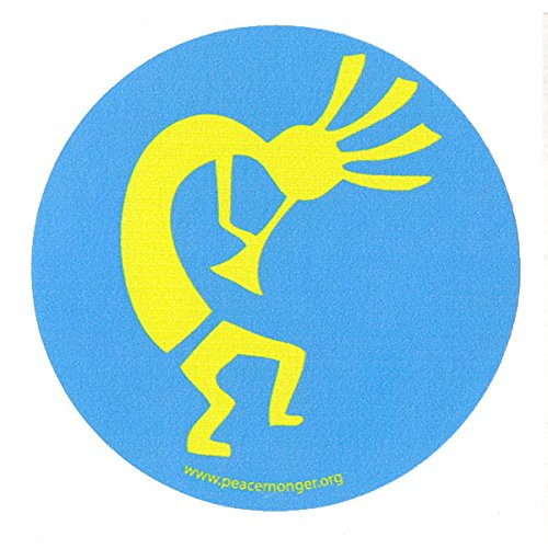 Peacemonger Kokopelli Native American Fertility God Single Symbol Mini Sticker