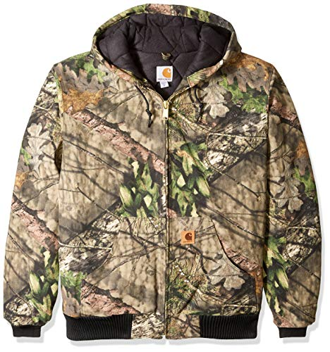 (Carhartt Men's Big & Tall Quilted Flannel Lined Camo Active Jac, Mossy Oak Break up Country 2X-Large/Tall)