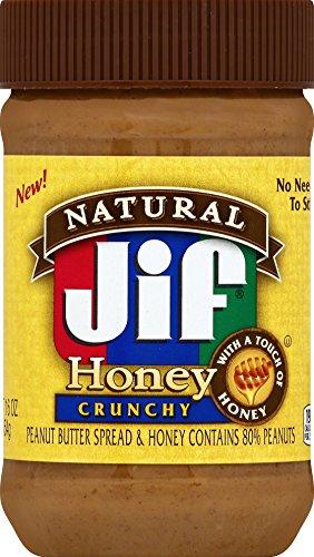 Jif Natural Honey Crunchy Peanut Butter, 16 Ounce