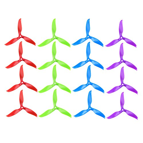 "iFlight 8 Pairs/16pcs Nazgul T5061 High-Speed Tri-blade Propeller 5"" 5061 Prop CW CCW for FPV Racing and Freestyle Quadcopter Frame (Mix Colors)"