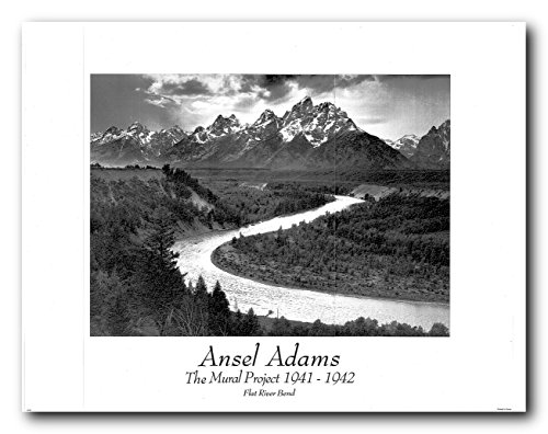 (Picture Wall Decor Ansel Adams Flat River Bend Art Print Poster)