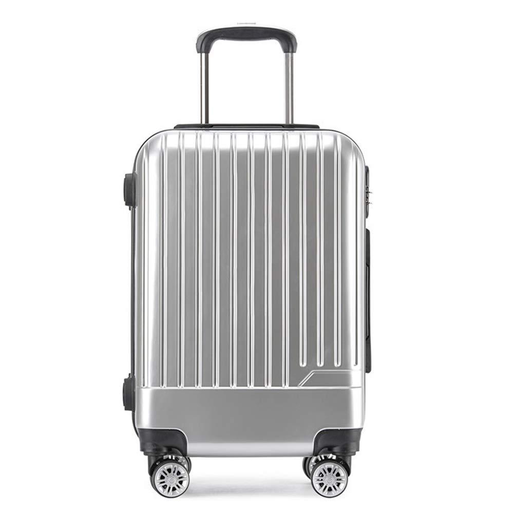 20インチの都市軽量のABS堅い貝はTSAで建てられた4つの車輪が付いている小屋手の荷物のスーツケースで運びます3桁の組み合わせロック、ラップトップコンパートメントトロリーバッグ。  Silver2 B07MNQGSD7