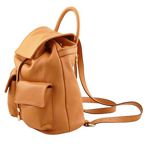 81415534 - TUSCANY LEATHER: SAPPORO - Sac à dos pour femme en cuir souple, Noir