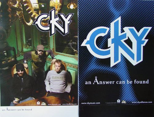 CKY - An Solution Can Be Found - Two Sided Poster - New - Rare - Deron Miller - Jess Margera - Chad I. Ginsburg - CIG - Foreign Objects - Oil - Camp Kill Yourself - Matt Deis - All That Remains