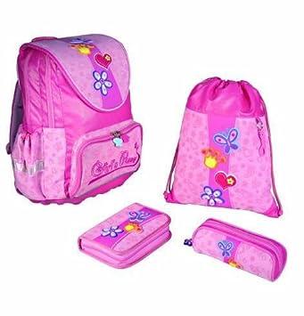 Girls Power Fashion Line - Set de mochila escolar de 4 piezas. Mochila, Funda, Bolsa de deporte Estuche: Amazon.es: Oficina y papelería