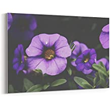 Westlake - Canvas Print Wall - Flower Blue - Canvas Stretched Gallery Wrap - Modern Picture Photography Artwork - Ready to Hang - 18x12in (37x 8ea)