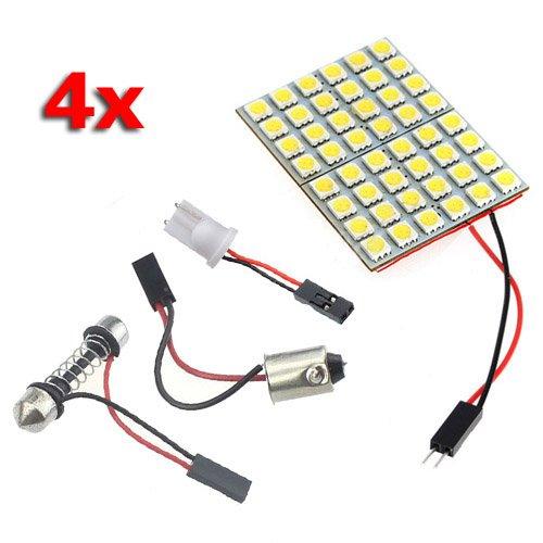 5 opinioni per SODIAL (R) 4X 48 5050SMD LED bianco puro lampadina luce pannello T10 BA9S