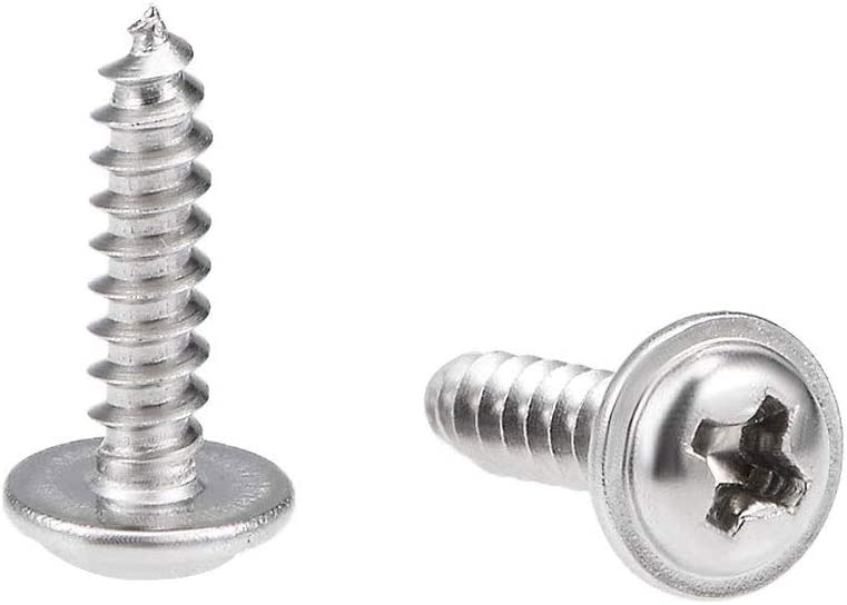 16 mm Truss en acier inoxydable Vis m/écaniques /à t/ête filetage complet Vis de filetage de la machine 50Pcs Vis /à bois M4