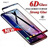 JPACC™ - Galaxy A9 Screen Protector 9H Full Glue Edge to Edge 6D Tempered Glass for Samsung Galaxy A9 (2018) (Black Pack of 1, Black)