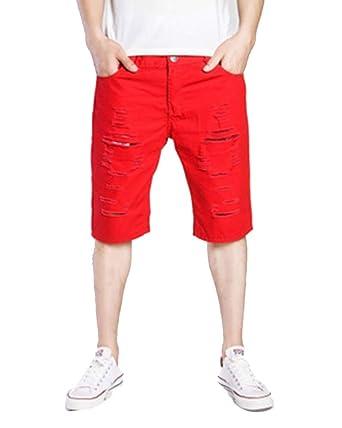 TaiFE Pantalones Cortos Casuales De Color Liso Deportivos para ...