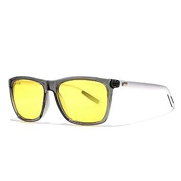 KTYX Gafas De Sol Cuadradas De Aluminio Y Magnesio Gafas De Sol Polarizadas para Hombre Gafas De Visión Nocturna HD Gafas de Sol (Color : C6): Amazon.es: ...