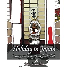 Holiday in Japan: Funny Coloring Book for Adult: Adult Activity Book