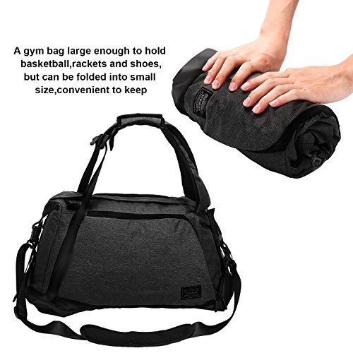 with Weekend Sports in Black Adult Bag for Men Travel Backpack Sports Waterproof Grey Weekender 3 35 Canvas Shoe Unisex Bag Women Travel Hand Bag Litres and Backpack Black Lifeasy Luggage Compartment 1 0 6YqUEx