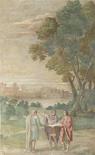 Oil Painting 'Domenichino And Assistants - Apollo And Neptune Advising Laomedon,1616-18' 18 x 29 inch / 46 x 74 cm , on High Definition HD canvas prints, Kids Room, Laundry - Suit Tri Canada
