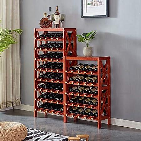 CDBL Creativo de Madera Maciza Estante para Vino vinoteca Sala de Estar Estante para Vino Piso Europeo doméstico Simple Moderno Bastidores de Stemware