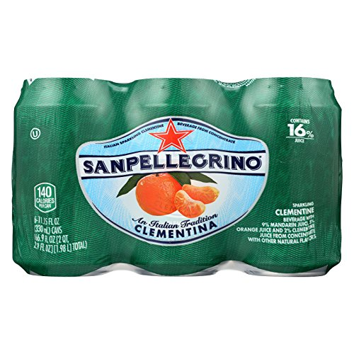 San Pellegrino Sparkling Water - Clementina - Case of 4 - 11.1 Fl oz. by San Pellegrino