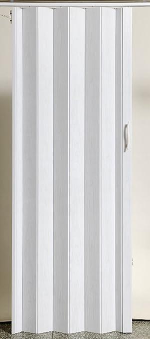 Puerta plegable corredera puerta plástico Puerta Blanco gewischt Colores Altura 203 cm ancho de montaje hasta 109 cm Doble pared Perfil nuevo: Amazon.es: Bricolaje y herramientas