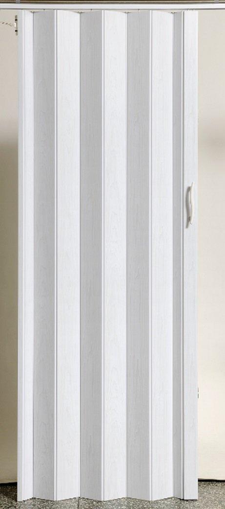 Faltt/ür Schiebet/ür T/ür Kunststofft/ür weiss gewischt farben H/öhe 203 cm Einbaubreite bis 109 cm Doppelwandprofil Neu