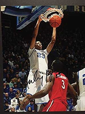Autographed/Signed Anthony Davis Kentucky Wildcats 8x10 Photo with COA Holo Only