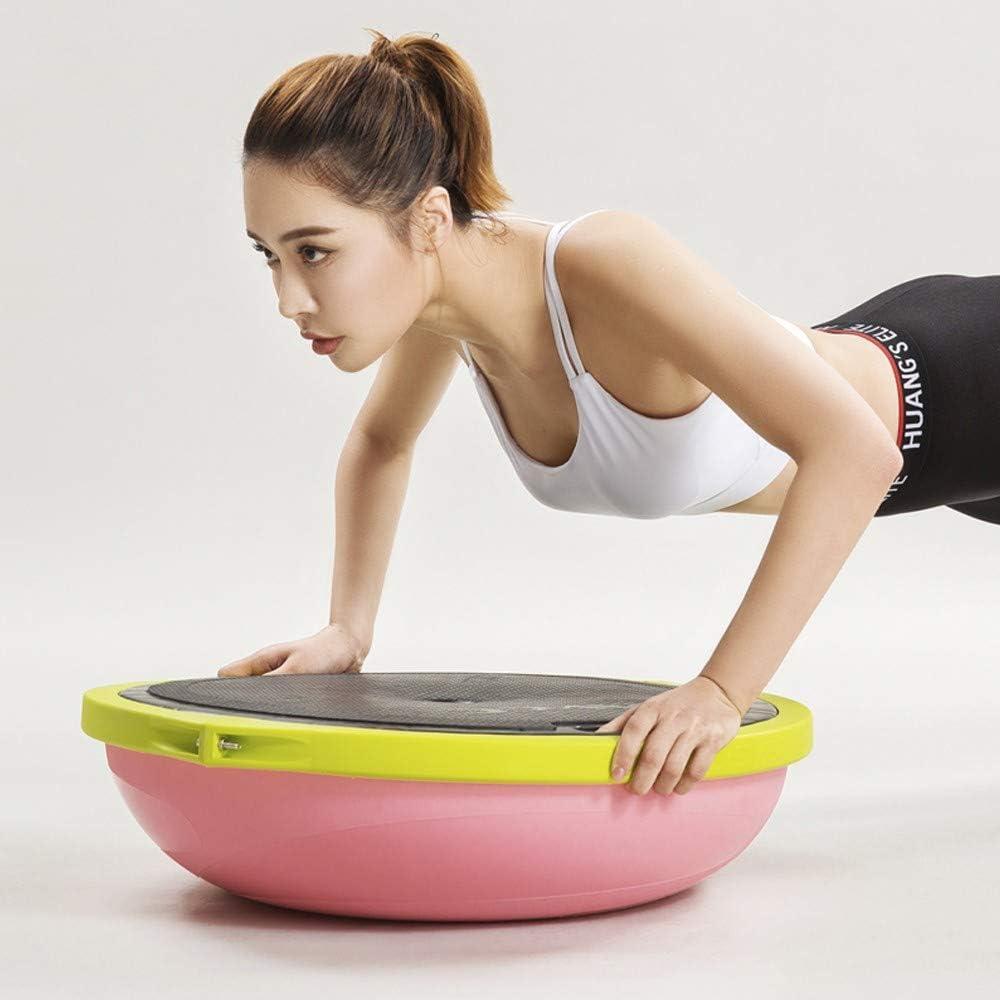 M/áx 62Cm ZYHA Balance Trainer Fitball Bola de Equilibrio para Entrenamiento,Media Pelota Fitness Puede Usarse en Ambos Lados Peso de Usuario 120 Kg Tabla de Equilibrio con Cuerdas de Tensi/ón