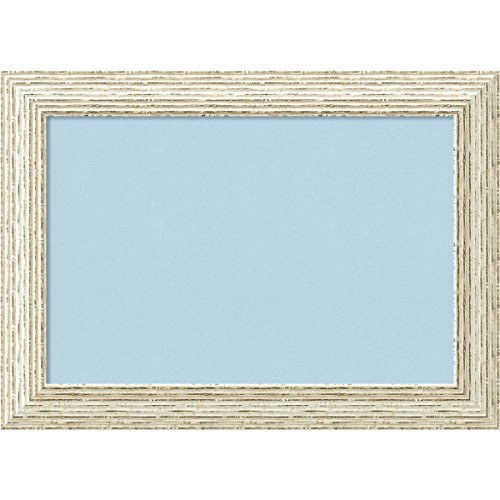 Amanti Art Blue Cork Cape Cod White Wash Framed Bulletin Boards, Small, ()