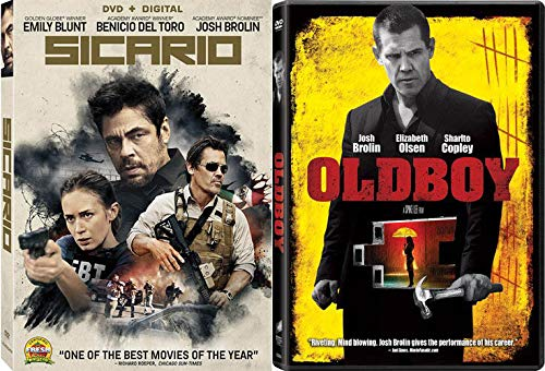 Josh Brolin Double Feature: Sicario & Oldboy (2 DVD Bundle) (The Hour Of The Furnaces)