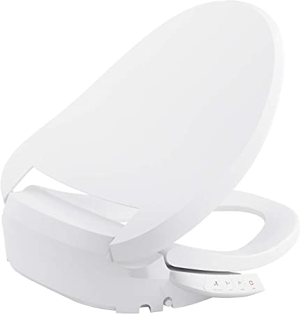 Kohler K 18751 0 C3 050 Elongated Warm Water Bidet Toilet Seat White With Quiet Close Lid And Seat Low Profile Design Self Cleaning Wand Adjustable Spray Pressure And Position Comfortable Clean Amazon Com