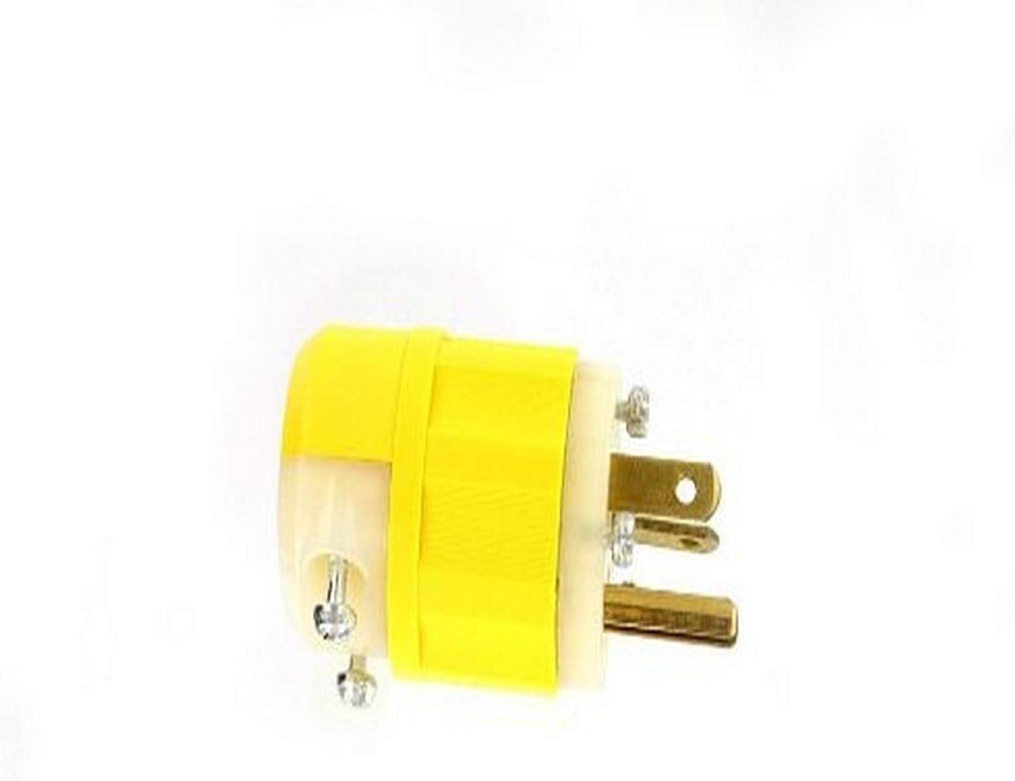 125 Volt Straight Blade Plug Leviton 5366-C 20 Amp Industrial Grade,