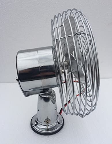 FEDERAL MILITARY PARTS Tractor CAB Cooling Fan Windshield DEFROST Chrome 2 Speed 600 CFM 12V 24V