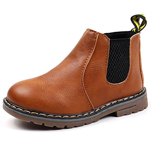 Sawimlgy Boys Girls Zipper Ankle Booties Fashion Combat Boots Hiking Shoes Casual Sneaker (Toddler/Little ()