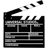 """Movie Film Clap Board, 12""""x11"""" Hollywood Clapper Board Wooden Film Movie Clapboard Accessory with Black & White"""