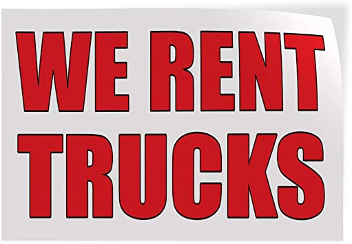 52inx34in Decal Sticker Multiple Sizes Rent Buy Business Rent Buy Outdoor Store Sign White Set of 2