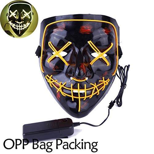 TANGGOOO Halloween Mask Up Party Masks The Purge Election Year Great Funny Masks Festival Cosplay Costume Supplies Glow in Dark Kids Boy Must Haves 4 Year Old Girl Gifts The Favourite Anime