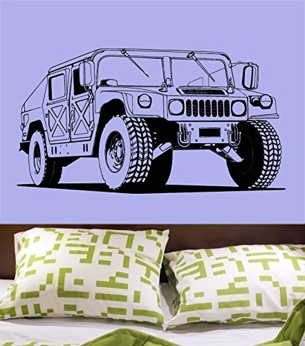 Wall decal vinyl sticker decals art decor design army hummer jeep sport car auto moto speed