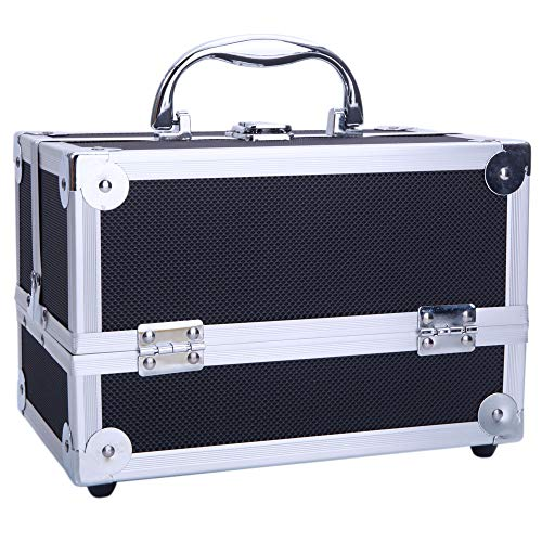 NewMultis SM-2176 Aluminum Makeup Train Case Jewelry Box Cosmetic Organizer with Mirror 9