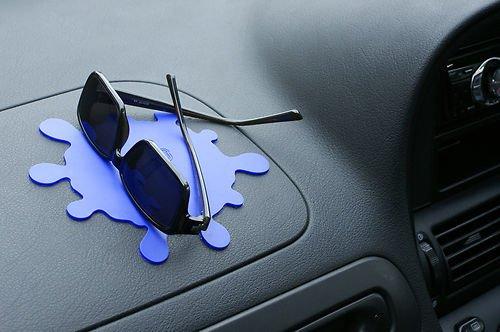 FREE POST Dashboard Anti-Slip Mat Grip Cradle BLACK SPLAT