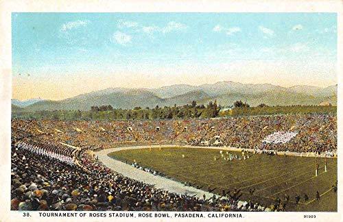 (Pasadena California Roses Stadium Rose Bowl Antique Postcard J79129)
