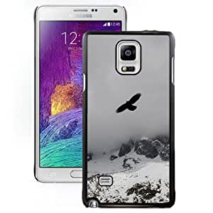 Eagle Flying Over Winter Snow Mountains Hard Plastic Samsung Galaxy Note 4 Protective Phone Case